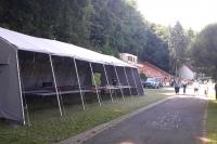 Палатка и трибуна