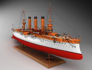 3D-модель крейсера brooklyn пользователя nissin с форума Airbase